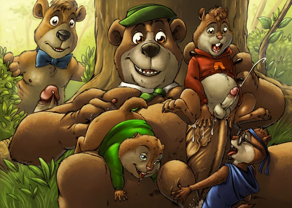 chipmunks alvin and naked the Spooky's house of jumpscares wolf girl