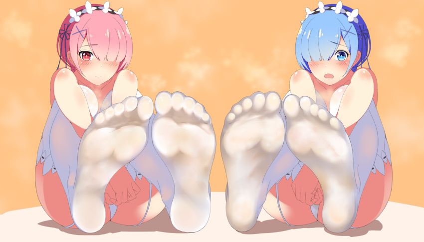 re zero and ram rem Blue and magenta blues clues