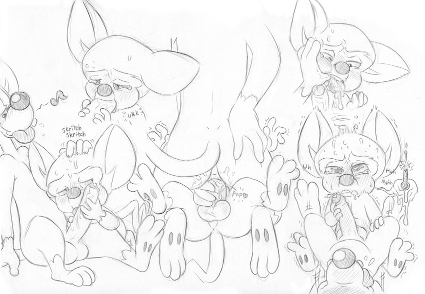and blinky, ghostly inky, clyde's pinky, dance Bonnie x toy bonnie human